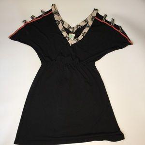 Anthropologie Eskell Black Mini Dress Small